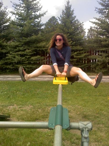 I actually rode this same teeter-totter when I was 5