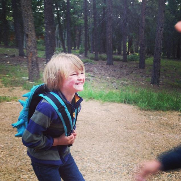 Excited First Grader