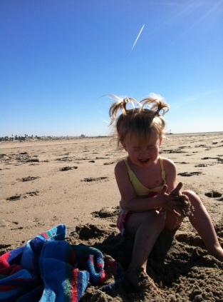 Mad on the beach.