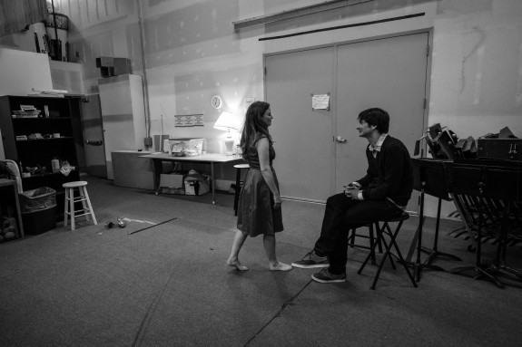 Robb giving a last minute pep talk