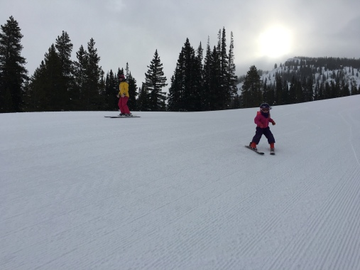 Nora and mom shredding